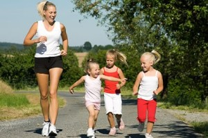 children-exercising-with-mom